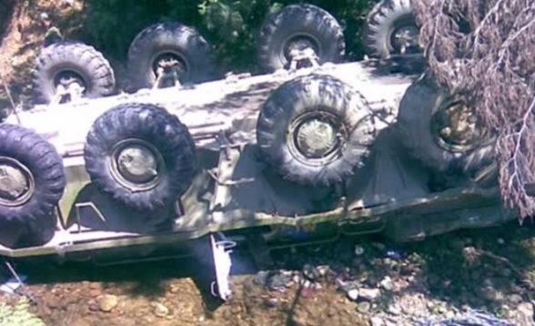 В Абхазії троє російських військових загинули при падінні БТР
