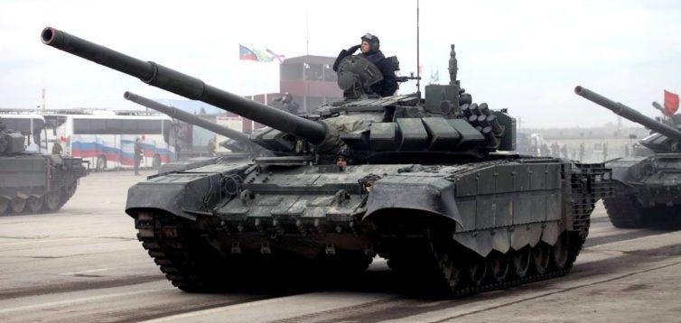 В зоне ООС украинские военные уничтожили уникальный российский танк. ВИДЕО