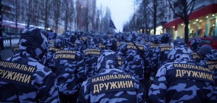 Чергові протести Нац.дружин: поліція провела затримання.ВІДЕО