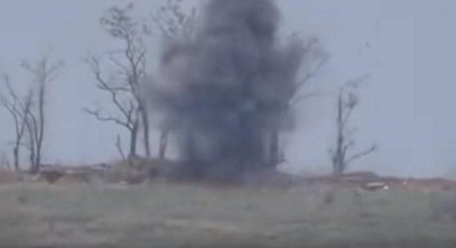 У мережі з'явилося нове відео знищення позицій окупантів на Донбасі. ВІДЕО
