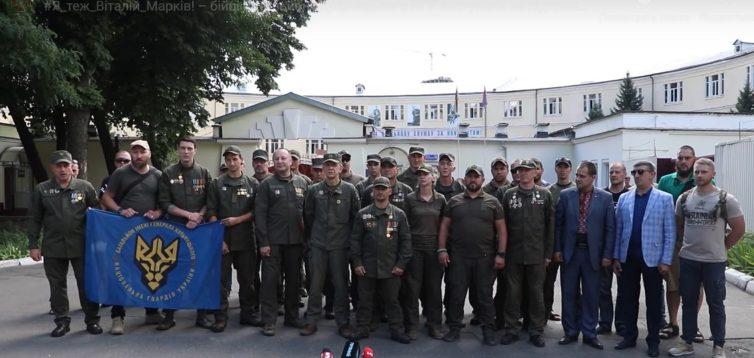 Сильне відео: військові ЗСУ підтримали засудженого в Італії воїна Віталія Марківа. ВІДЕО