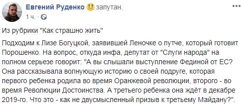 Богуцкая объяснила «переворот» Порошенко рождением ребенка у подруги депутата от ЕС