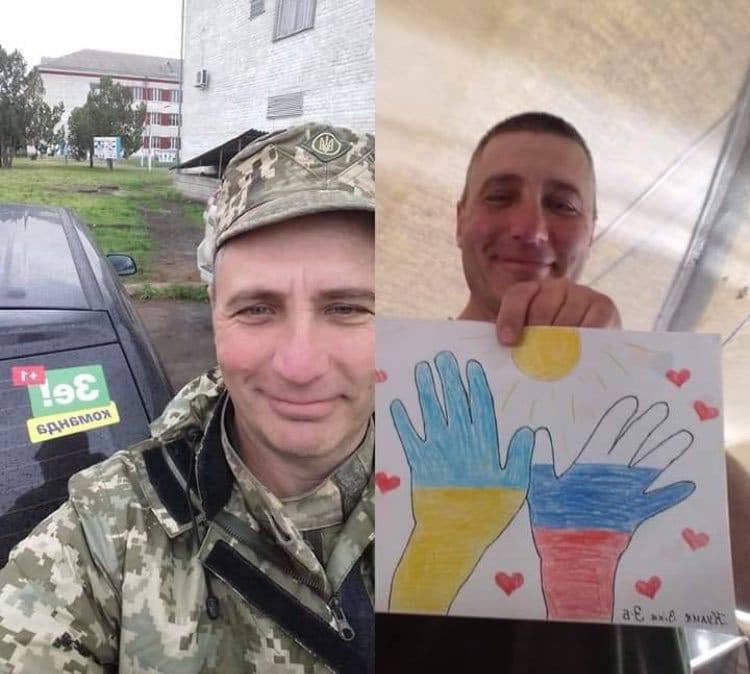 Волонтери Зеленського привезли на передову малюнки, які закликають до миру і дружби з Росією. ФОТО