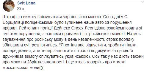 """""""Гучний скандал"""": на Київщині поліція оштрафувала сім'ю через українську мову. ФОТО"""