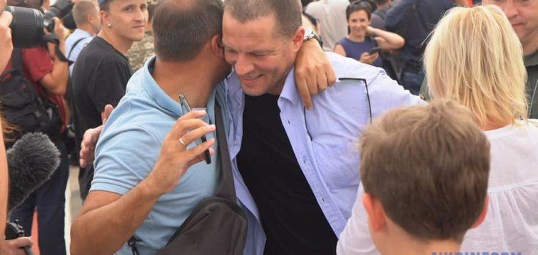 Сущенко подякував Порошенку за звільнення з полону. ВІДЕО