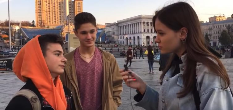 Просто жах: блогерка опитала молодь на Майдані з приводу війни на Донбасі та анексії Криму. ВІДЕО
