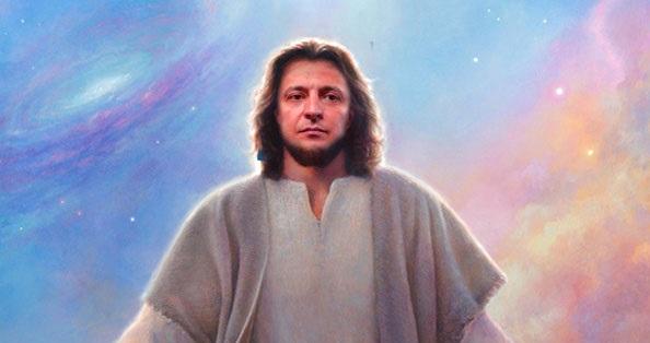 """""""Врятує Україну"""": прихильники Зеленського зобразили його в образі Ісуса Христа. ФОТО"""