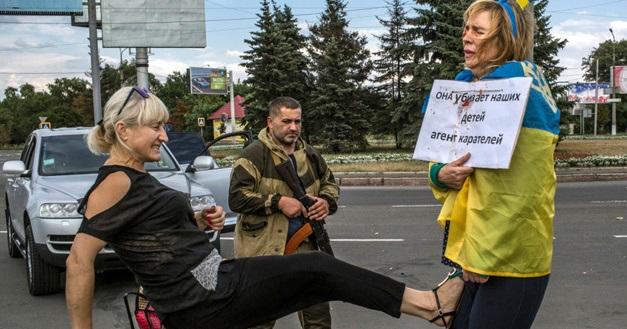 Ликвидирован террорист, который издевался над украинкой Ириной Довгань в Донецке. ФОТО