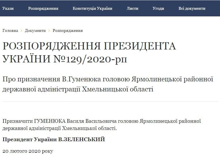 """Зеленський призначив коміка з """"Ліги сміху"""" головою РДА на Хмельниччині"""