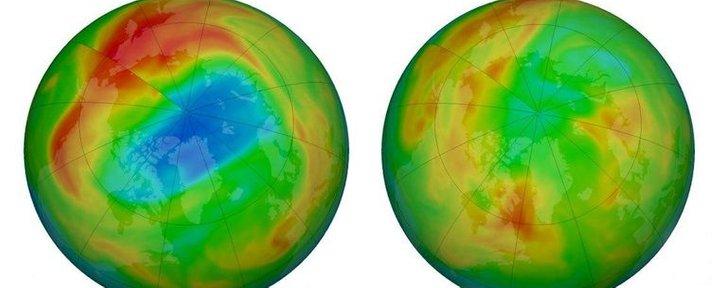 Над Арктикою зникла найбільша озонова діра