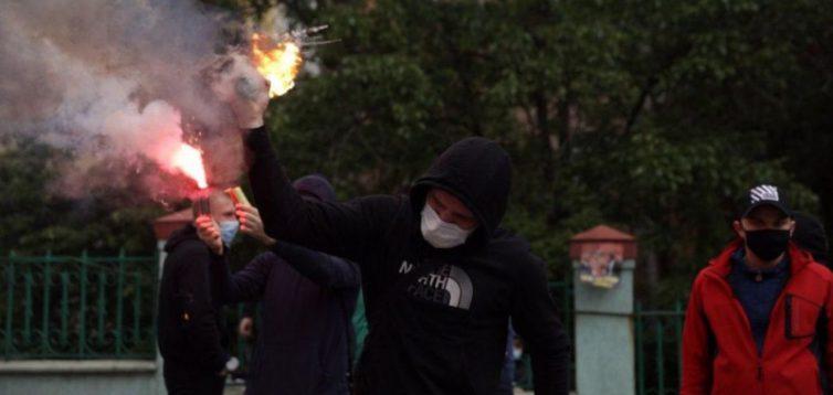 Відомі подробиці акції протесту під офісом ОПЗЖ