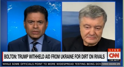 Порошенко в інтерв'ю Фаріду Закарію на CNN подякував США за чітку позицію