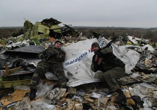 Нардеп з РФ сфотографувався в кріслі збитого, біля Донецька, Boing-777