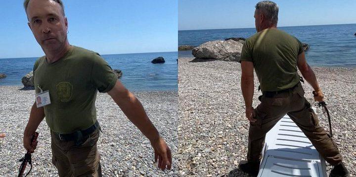 В окупованому Криму охоронець батогом виганяв людей з пляжу. ВІДЕО