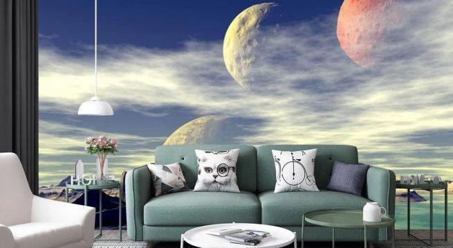 (Рус) Фотообои космос: стильное решение для интерьера