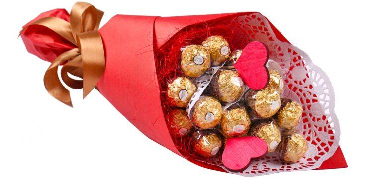(Рус) Яркий праздник с конфетными букетами