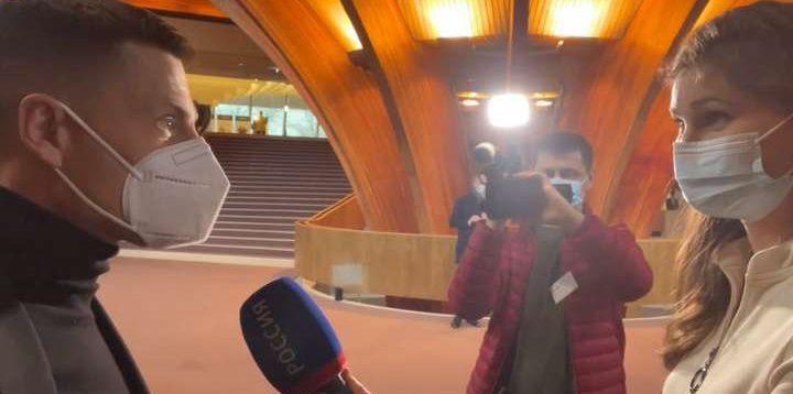 Гончаренко жорстко вказав пропагандистці, де місце російської делегації в ПАРЄ. ВІДЕО