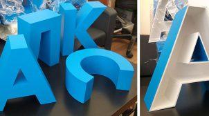(Рус) Объемные буквы: сфера применения, особенности изготовления и монтажа