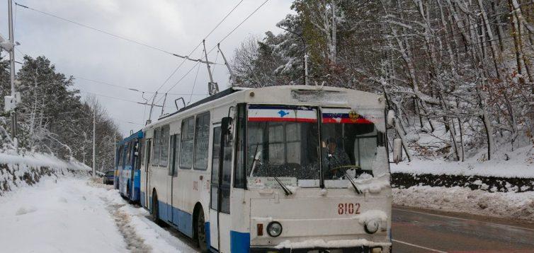 В Житомирі пасажири змушені були їхати в засніженому тролейбусі. ФОТО