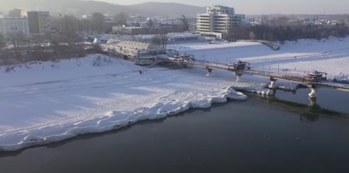 Вперше за багато років замерзло Балтійське море. ВІДЕО