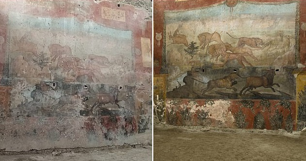 Археологи за допомогою лазера відновили давньоримську фреску. ФОТО
