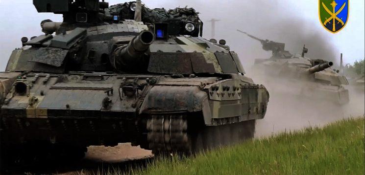 Танкові підрозділи ЗСУ провели масштабні навчання
