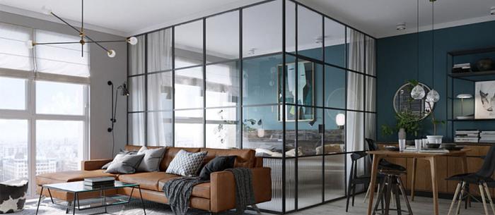 В чем популярность стеклянных перегородок Loft