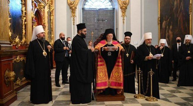 Вселенський Патріарх Варфоломій провів богослужіння в Андріївській церкві Києва