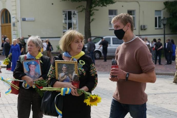 Українці вшановують пам'ять полеглих у Іловайській трагедії