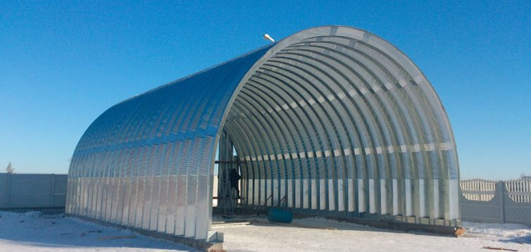 (Рус) Производство арочных металлоконструкций для ангаров